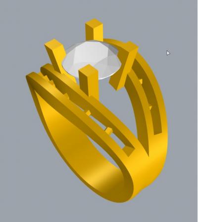 Diseño anillo Brillante y...